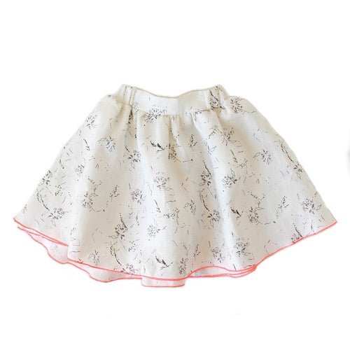 Yoobi Off White and Lavender Skirt
