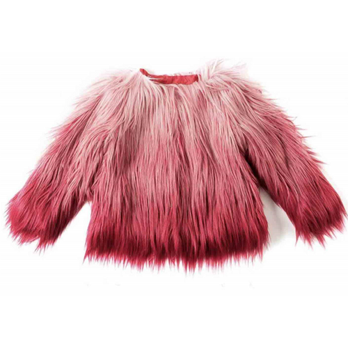 Rose Violet Faux Fur Coat