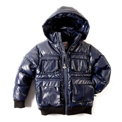 Navy Steel Garmat Puffer Coat