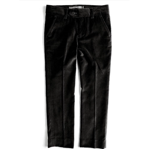Black Velvet Suit Pants