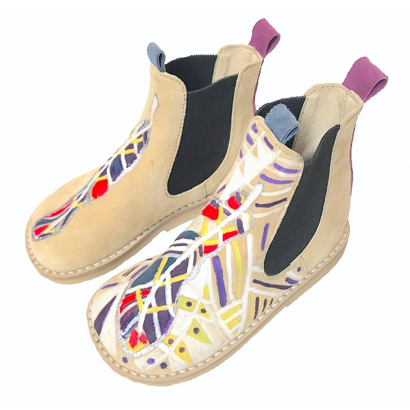 Hand Painted Aztec Chelsea Boots