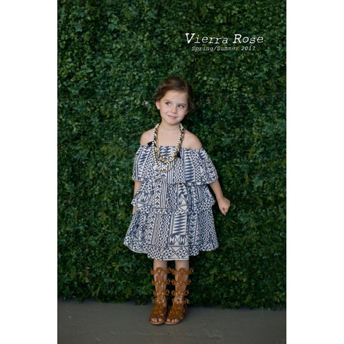 batik mila ruffle tiered dress