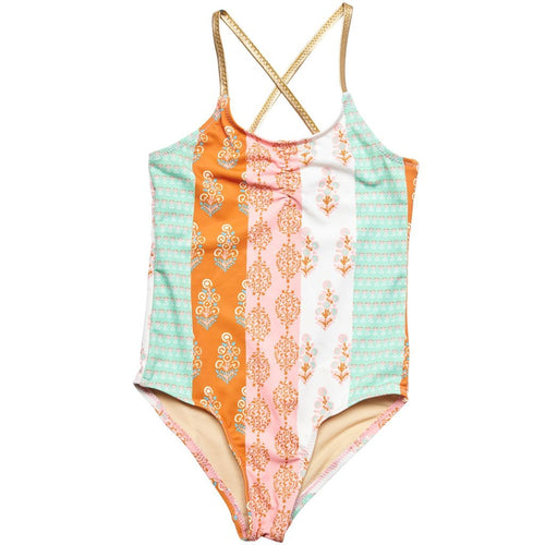 Pink Icing Belle Block Print Swimsuit
