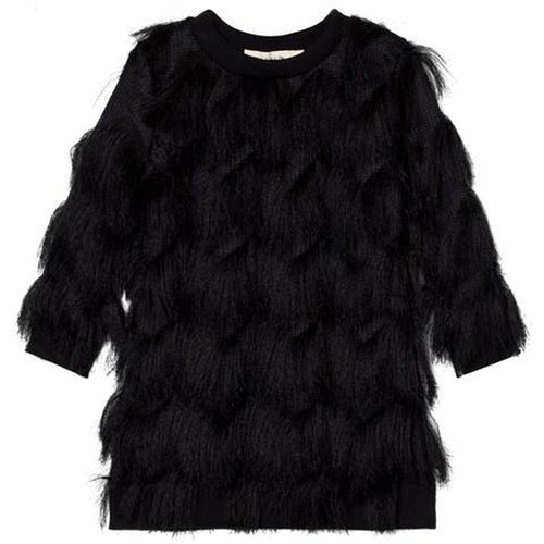 Black Fringed Dress