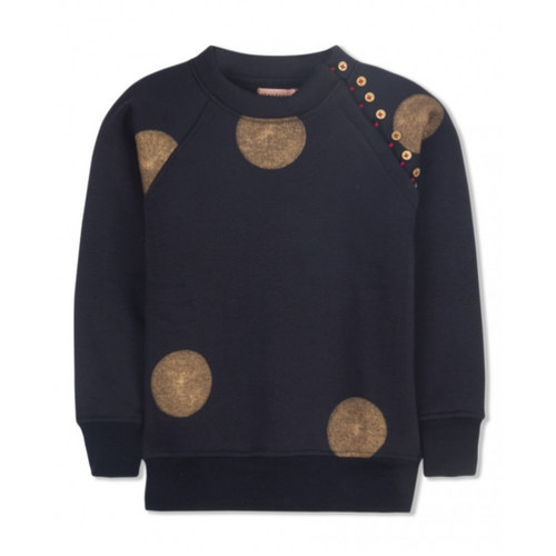Navy Blue With Gold Dot Pattern Lilli Sweater