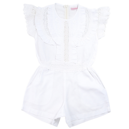 white broiderie isabel sunsuit