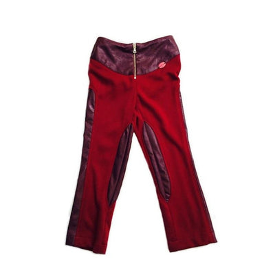 Cranberry Vegan Leather Riding Pant
