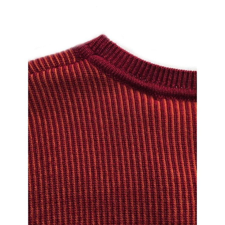 Cranberry and Orange Knitted Top