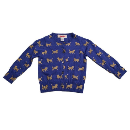 gold cat cardigan