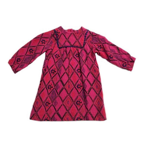 magenta aztec layla dress