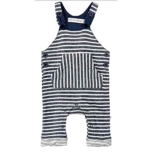 dress blues navy and white striped overall