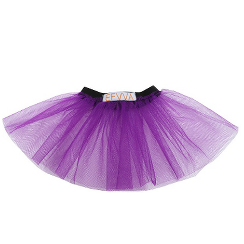 Black Velvet and Purple Tulle Frill