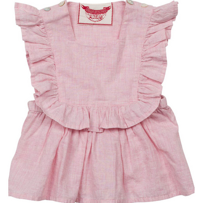 Pale Pink Voile Smock Top