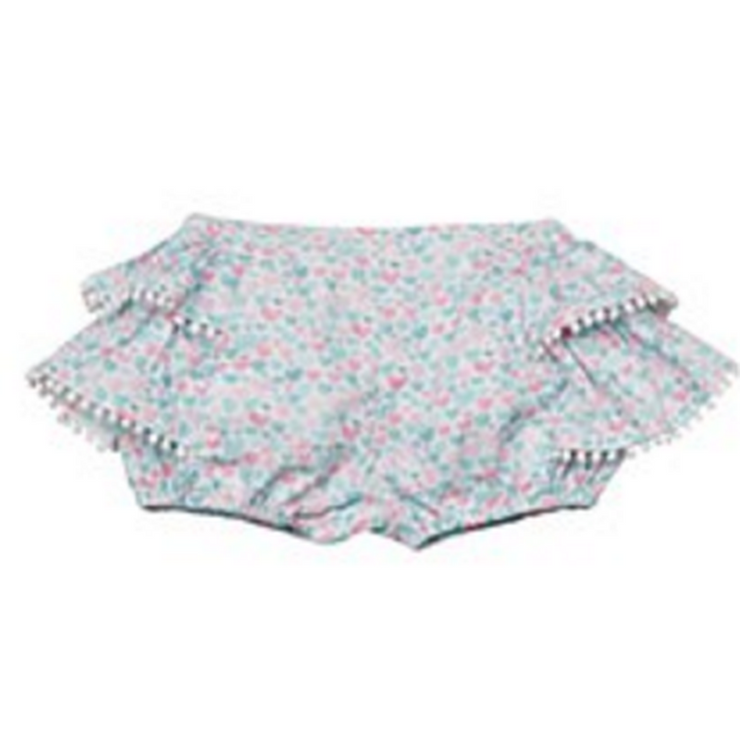 Multicolor Frilled Watercolor Hearts Bloomers