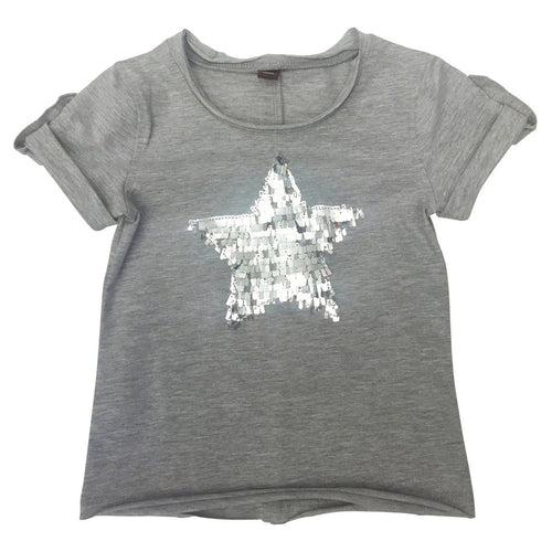 Gray Silver Heart T Shirt
