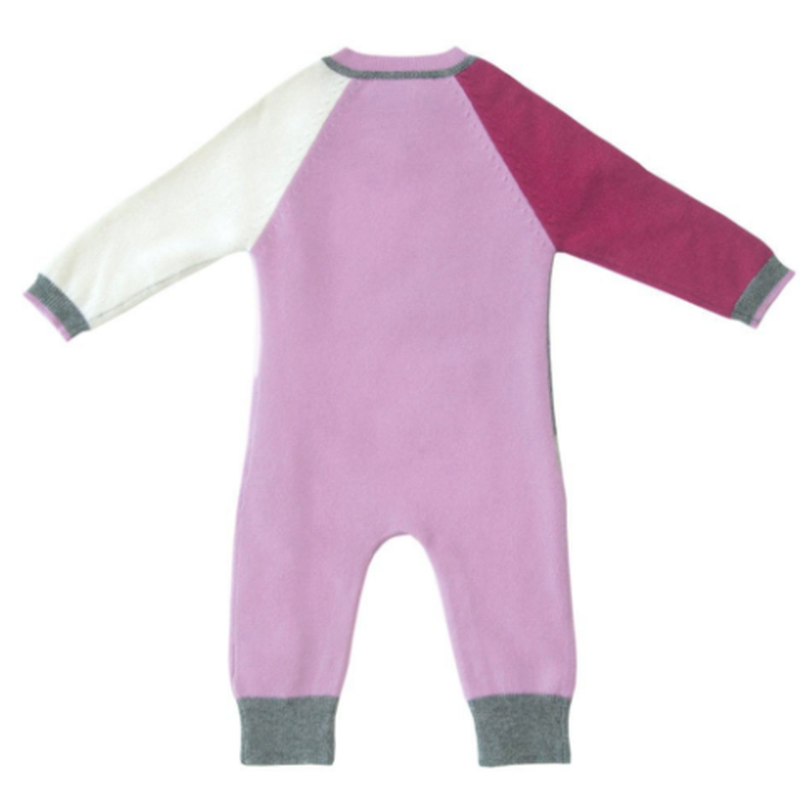 Carnation Pink Combo Cashmere Color block Coverall