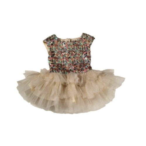 gold sequin ballerina dress