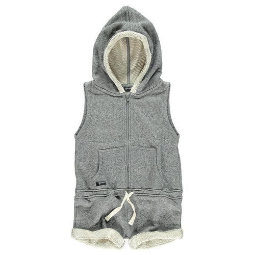Molted Hooded Jumpsuit