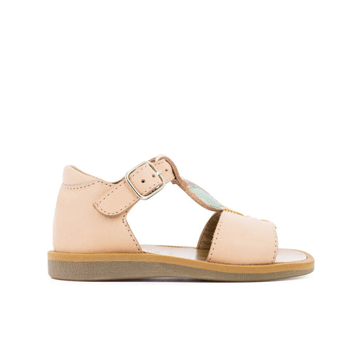 Poppy Balloon Nude Sandal
