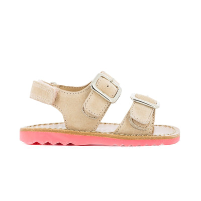 Waff Nude And Hot Pink Sandal