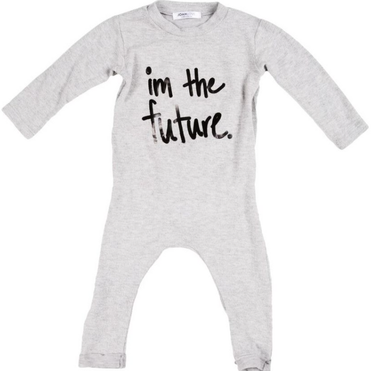 Heather Grey Casper Future Onesie
