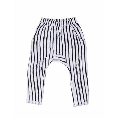 Black Vertical Stripped Pant