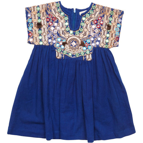 Juno Indigo Jeweled Dress