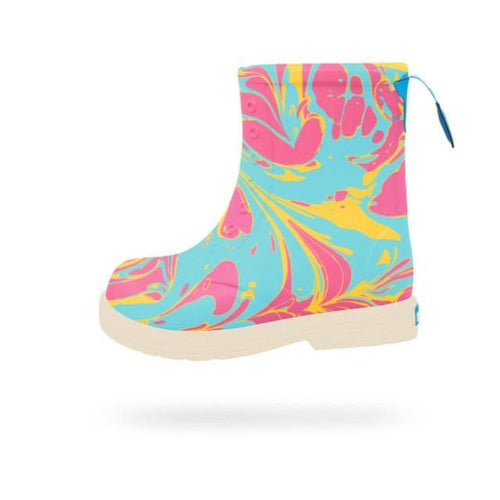 Sid Boot Marbled surfer blue and white