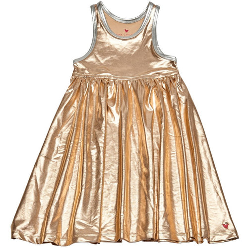 Liza Lame Rose Gold Dress