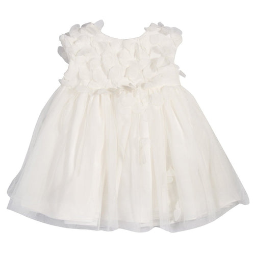 PETALS OFF WHITE DRESS