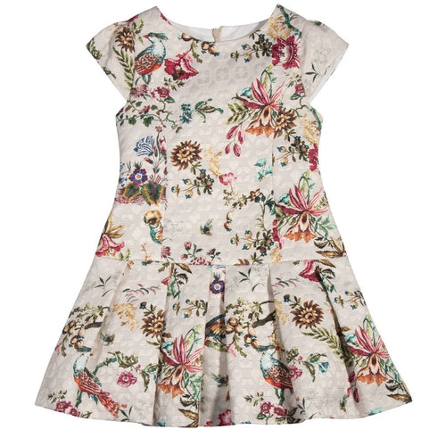 BEIGE FLOWERS DRESS