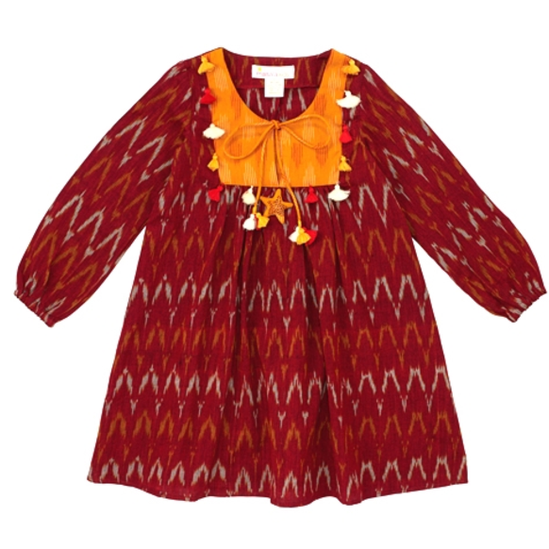 Rust Piu Ikat Tunic Dress