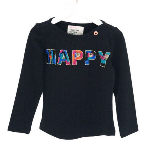 Black Happy T-Shirt
