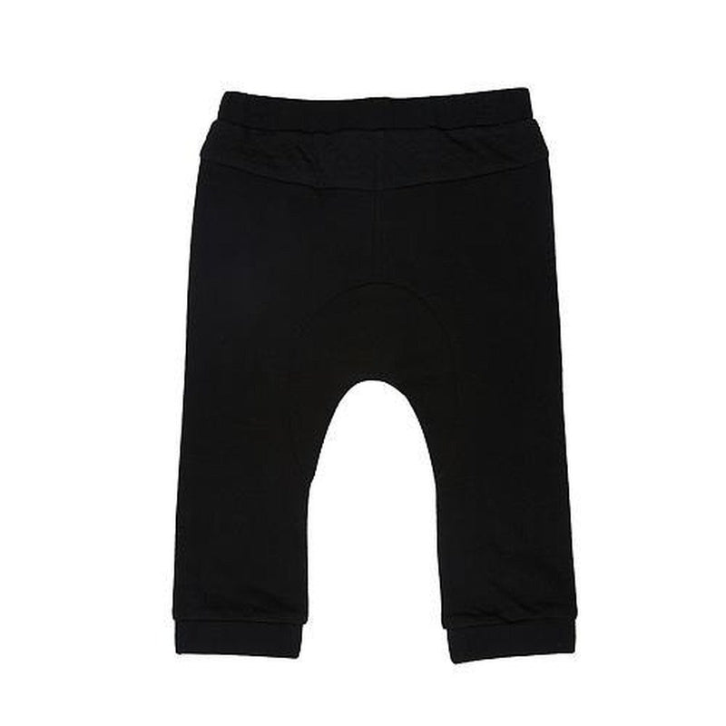 french terry black pant