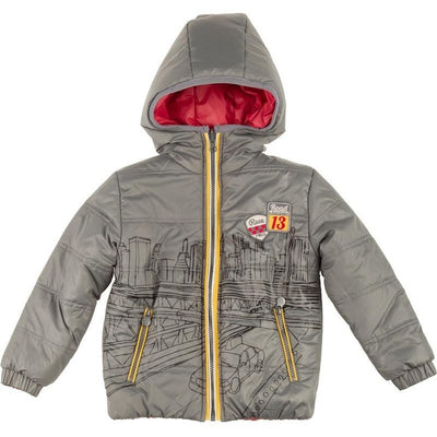 Grey Reversible Technical Parka