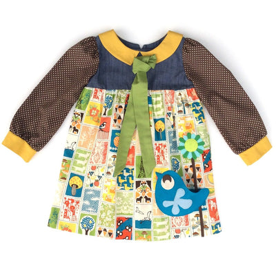 Patchwork Polka Party Dress