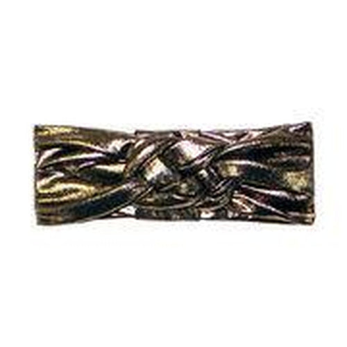 Sailor Knot Turban In Metallic Gold,  Black & White
