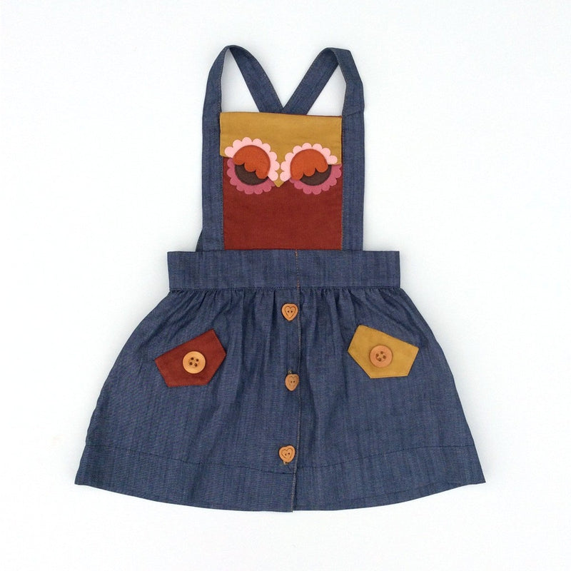 School Daze Owlet Jumper / Chambray
