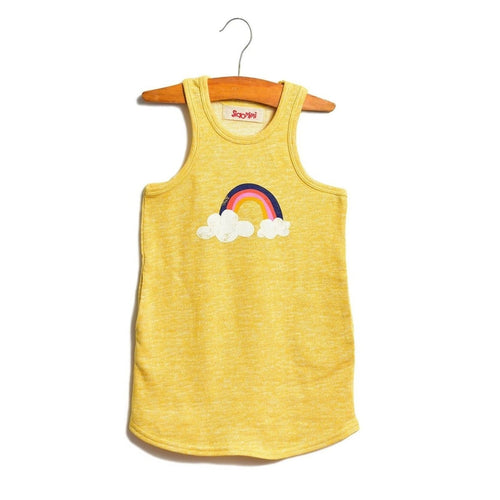 sunglow rainbow tank dress
