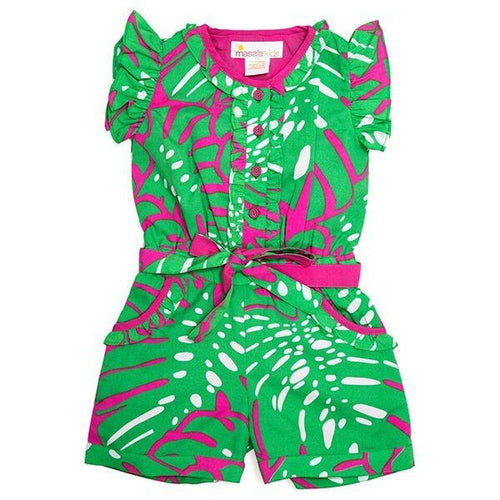 Island Palm Green Romper