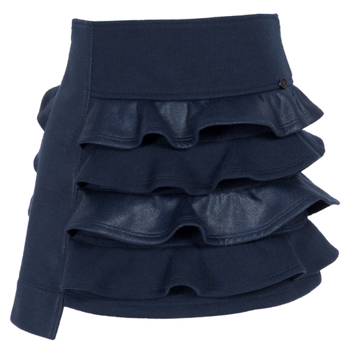 Navy Blue Ruffled Skirt
