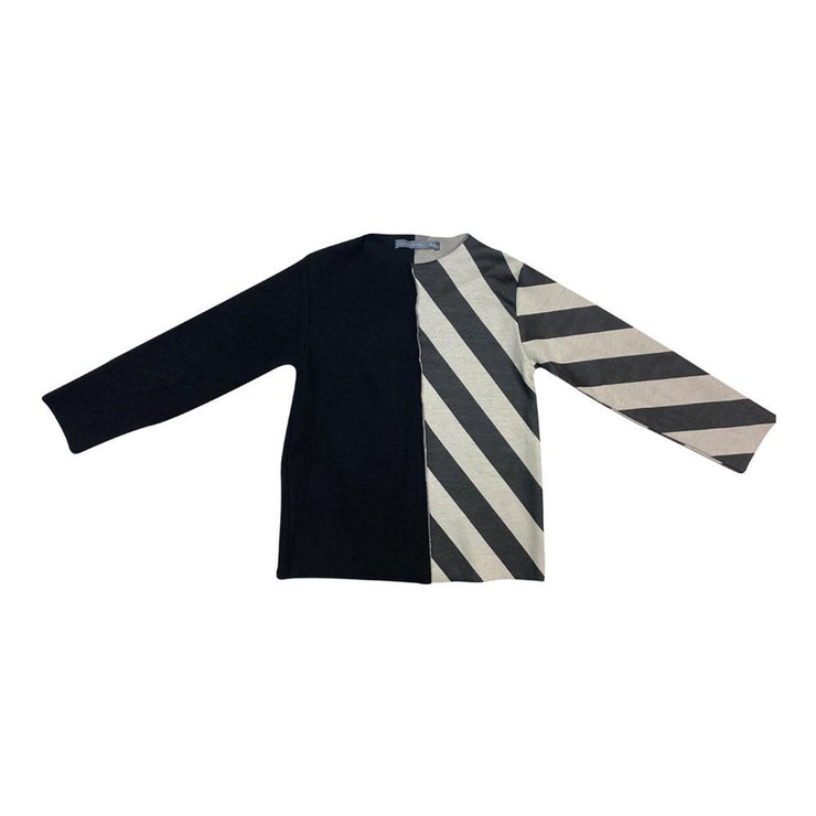 Diagonal and Fleece Top