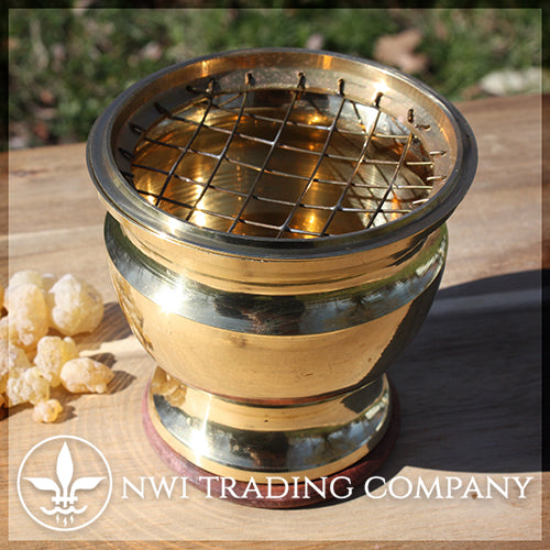 Large Brass Incense Burner