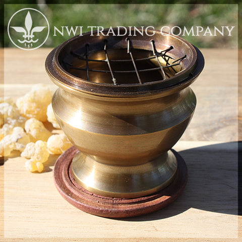 Brass Incense Burner - Bronze Finish