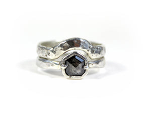 Salt and Pepper Diamond + Silver Anniversary