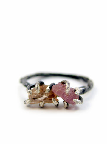 Callirrhoe Jewellery double gemstone ring