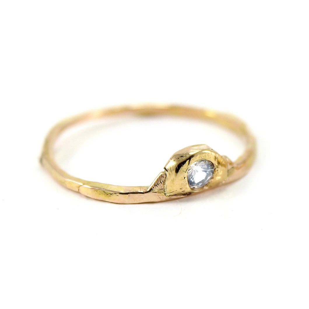 The Dainty Half Moon Ring