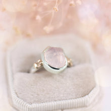 Hand Cut Rose Quartz Bezel Ring