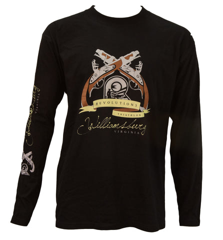 2013 Olympic Black Long Sleeve Williamsburg  Finisher T