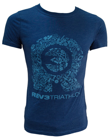 REV3 Bike Parts Short Sleeve Women's T-Shirt - Blue